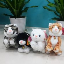 Baby Toys Products Sound Control Electronic Pet Electronic Toys Cat Robot Cat Stand Walk Plush Kids Toys Gift for Children(China)