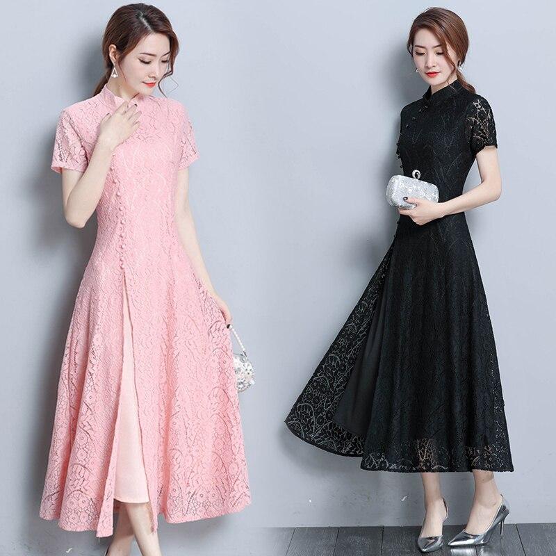 2019 Vietnam Aodai Vietnam Traditional Dress Ao Dai Vietnam Clothing Long Cheongsam Aodai Dress Modern Embroidery