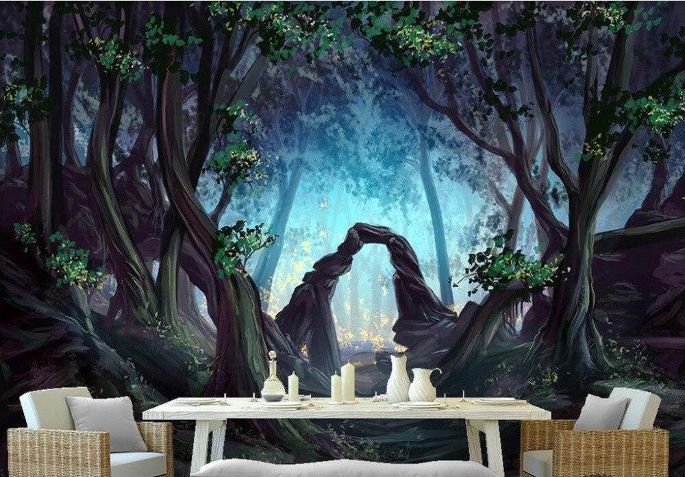 Europeu Customized 3d Wallpaper Walls Forest Trees