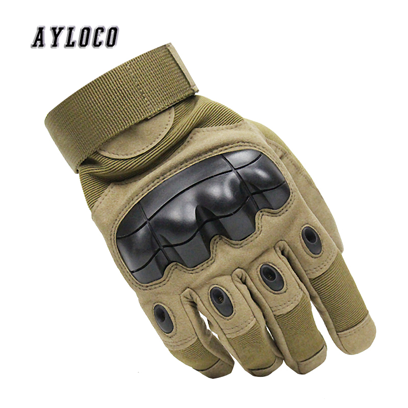 Army Combat Tactical Gloves Men SWAT Special Forces Shoot Military Gloves Knuckle Full Finger Fight Paintball Gloves