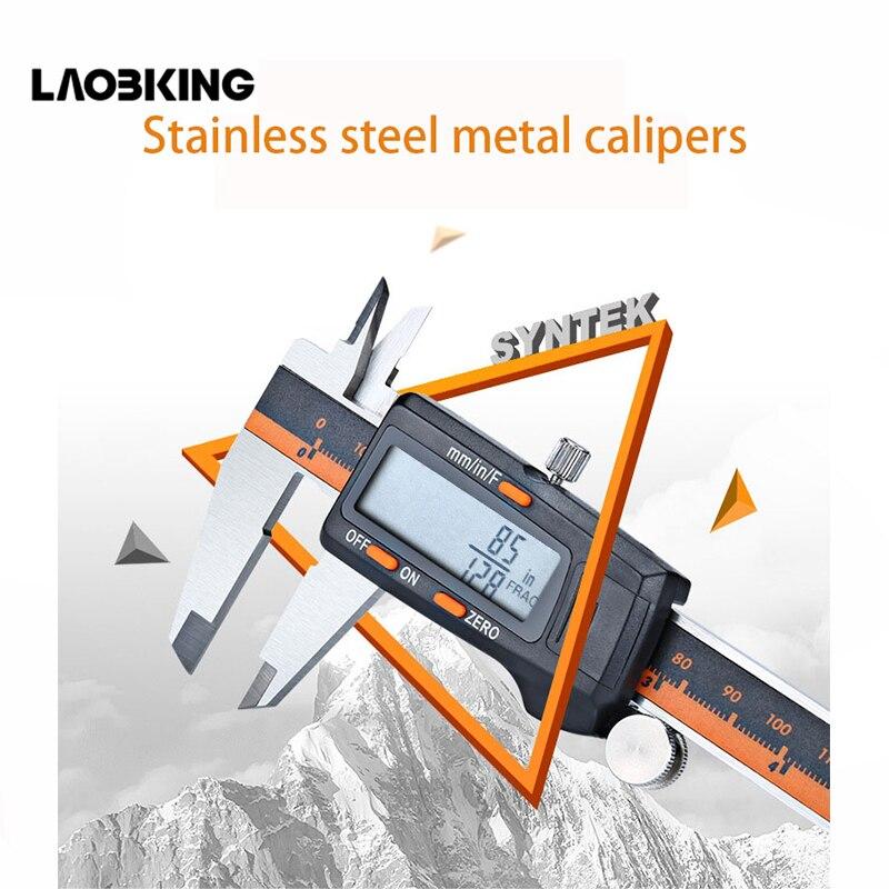 In acciaio inox digital vernier caliper 0-150mm con frazionale display digitale pinza calibro elettronico