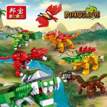 BanBao Dinosaur Jurassic World Park Animal Blocks Educational Building Bricks Model Toys Compatible With Lego Kids