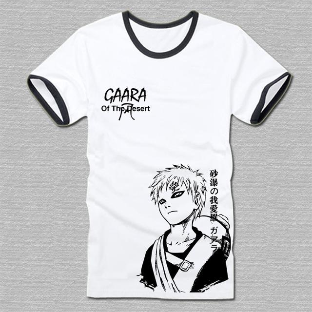 Naruto Sabaku no Gaara Cartoon Fashion T-shirt