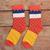 OtherLinks 3 unids/set Moda Calcetines de Dibujos Animados Calcetines de Algodón de Impresión Mujeres Casual Creativa 2017: Chica, orange dots, Cristal blanco y Sombrero