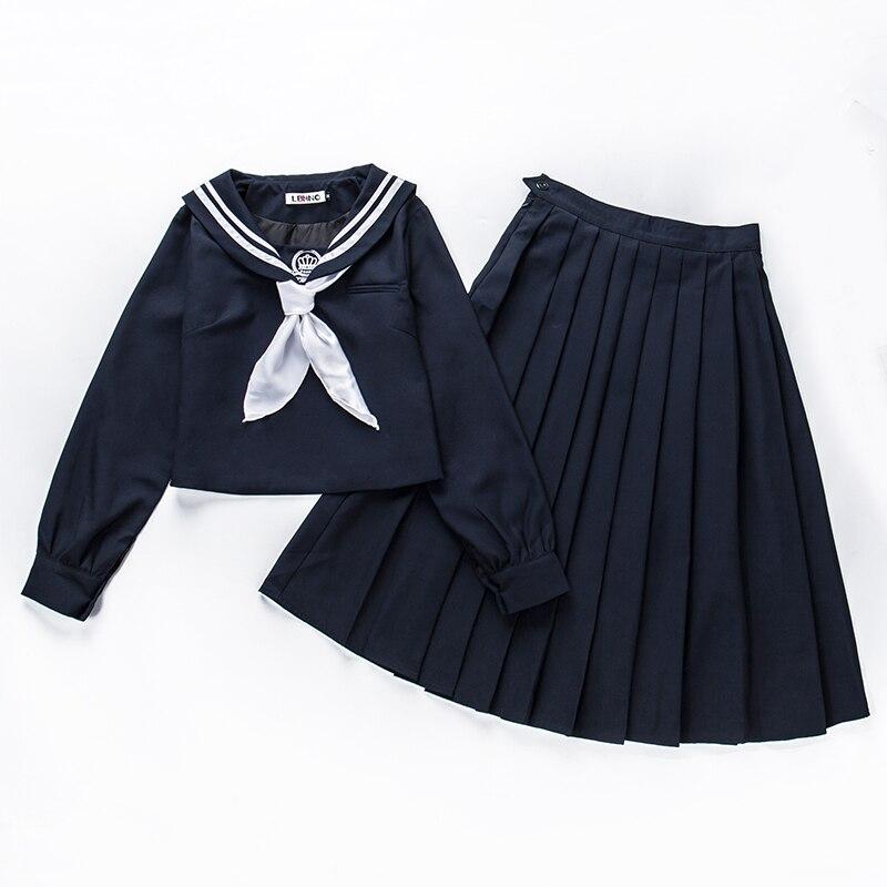 c07b95121 Aliexpress.com  Comprar Otoño japonés marinero traje uniformes estudiantes  coreanos clase desgaste trajes vestido japonés uniformes femenina viento  colegio ...