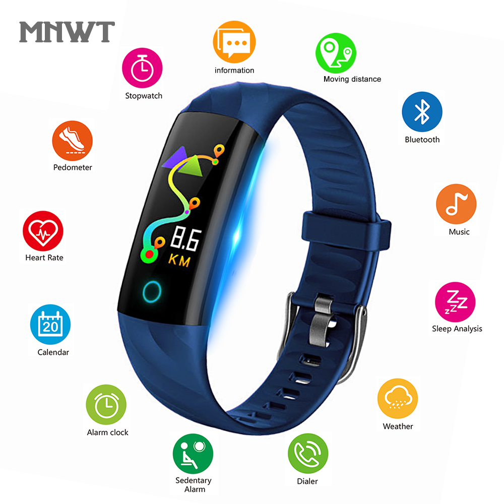 MNWT Electronic Smart Watch Women Running Cycling Climbing Sport Watches Women's Health Pedometer LED Color Screen Wristwatches