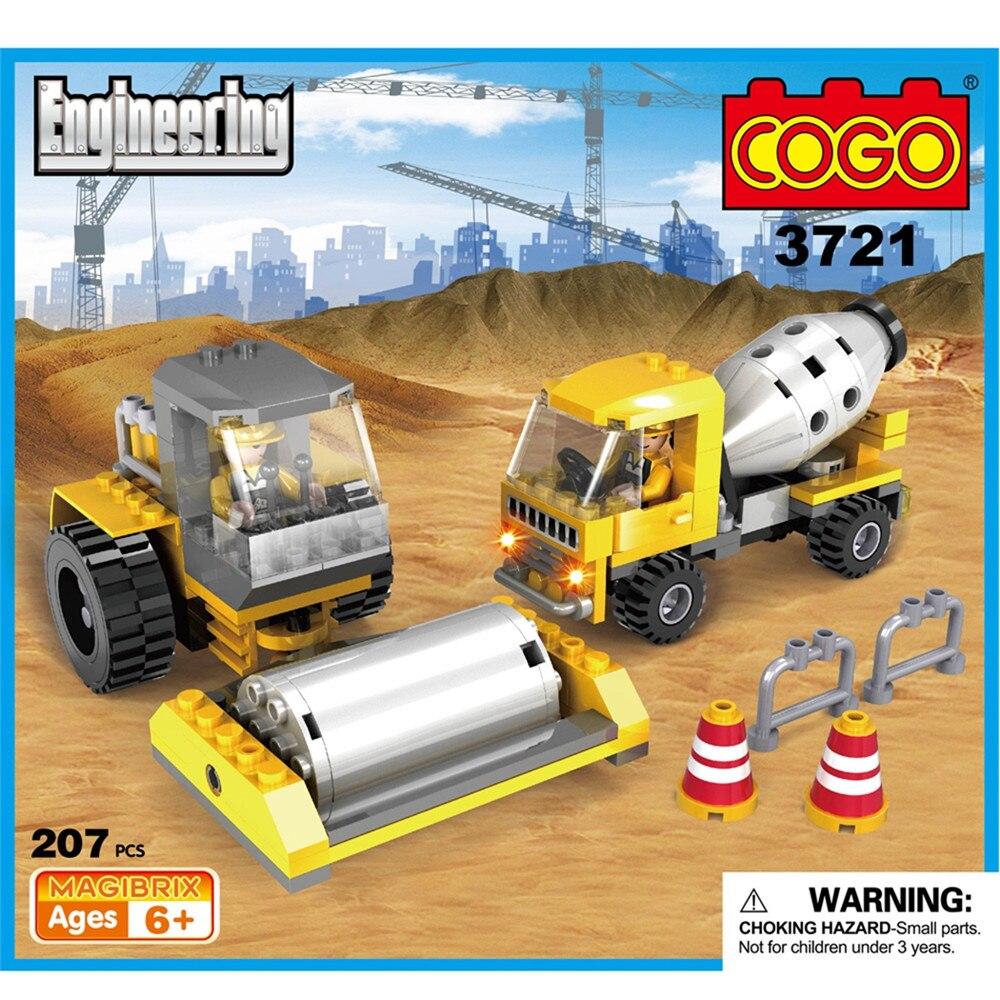 3721 207PCS COGO City Construction Engineering Roadworks
