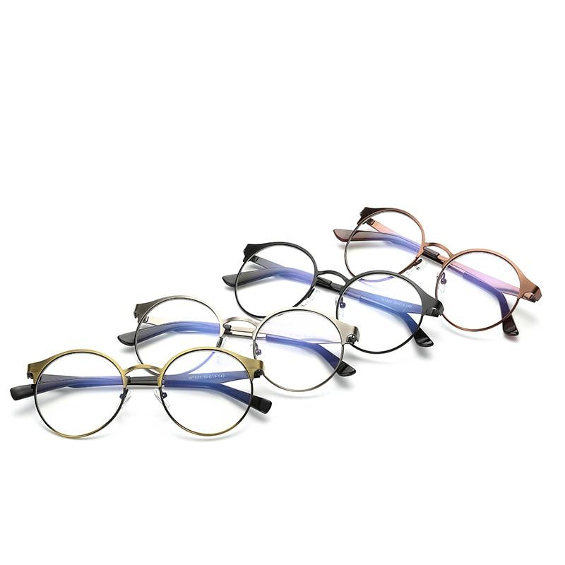 Männer und frauen klarglas rahmen, metallrahmen runde retro gläser ...