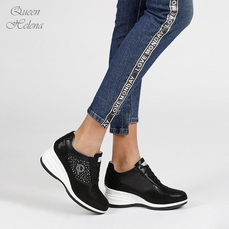 QUEEN HELENA Wedge Sneakers