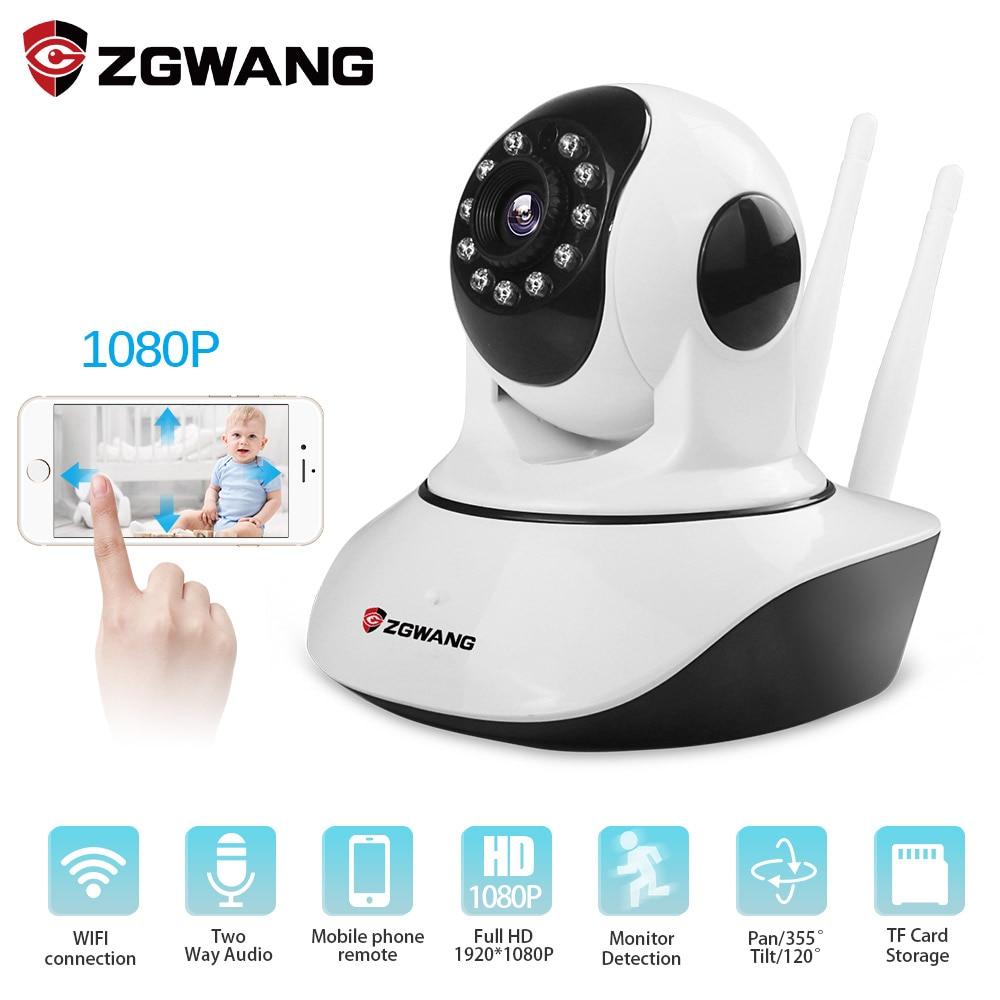 ZGWANG 1080p HD Trådløs sikkerhet IP-kamera Nattsyn Opptak Overvåkingsnettverk Innendørs Baby Monitor Mini Wifi-kamera