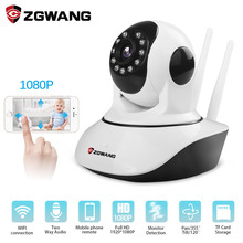 цена на ZWGANG 1080p HD Wireless Security IP Camera Night Vision  Recording Surveillance Network Indoor Baby Monitor with wifi camera