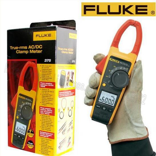 Fluke 375 Clamp Meter : Fluke true rms ac dc clamp meter f