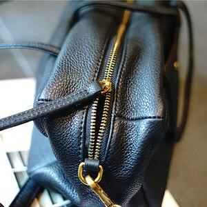 Image 3 - AETOO Simple and practical retro doctor bag cowhide shoulder light oblique cross bag portable commuter leather casual female bag