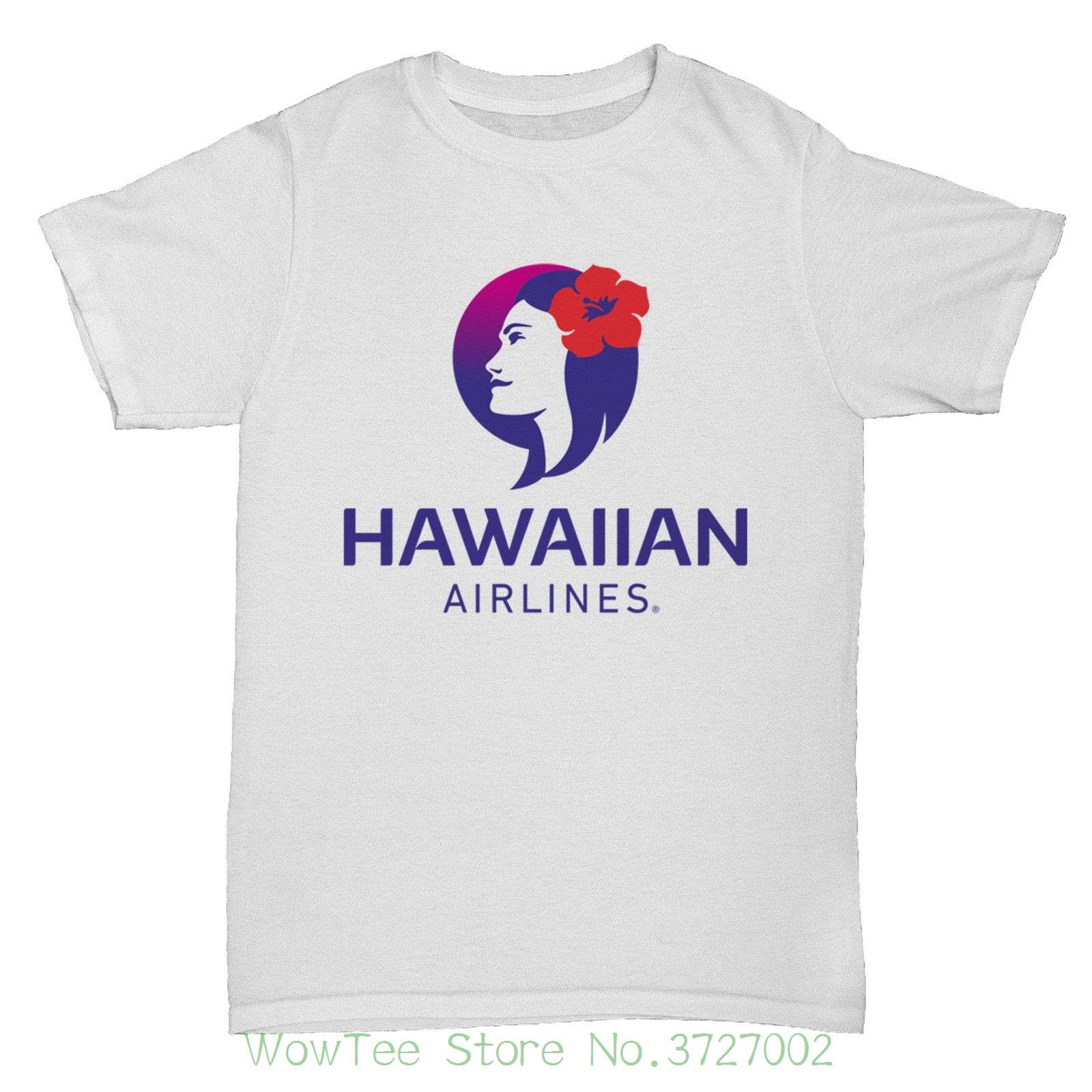 Hawaiian Airlines Retro Aeroplane Boac Pan Am T Shirt Cartoon Print Short Sleeve T Shirt Free Shipping