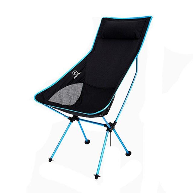 AOTU Portable Chaise Pliante De Plage Oreiller Intgr Avec Sac Transport Pour Camping En