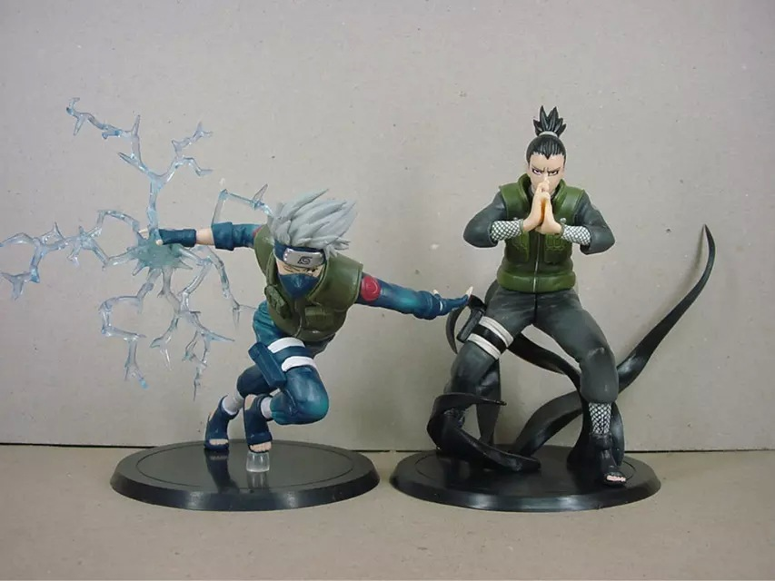 Naruto Figures Japanese Toys Anime Figures Pvc 16cm 2pcs Shikamaru Kakashi Collection Models Hot Toys Action Figure Kids Gifts юбки kislis юбка