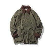 Мужская Вощеная непромокаемая куртка, винтажная одежда, плащ