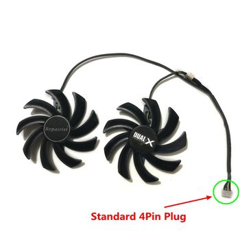 2pcs/set 85mm 4Pin FDC10H12S9-C Sapphire HD6850 HD6970 HD7870 2G HD7950 HD7970 Graphics Cooler GPU VGA Card Cooling Fan image