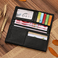 European and American Style Luxury Genuine Leather High Quality Long Men Business Organizer Wallets Male Clutch Wallets Purses