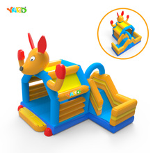 Funny Kids Inflatable Moonwalk Bouncer Trampoline Combo with Slide for Events