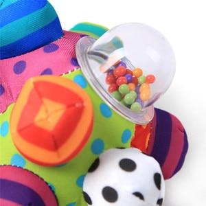 Image 3 - 赤ちゃんのおもちゃ楽しい Pumpy ボールかわいいぬいぐるみソフト布ハンドガラガラベルトレーニング把持能力のおもちゃ少年少女リングおもちゃ子供のギフト