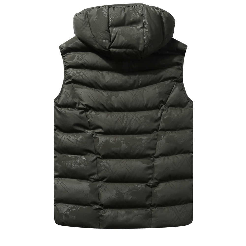 2018 новый осенне-зимний теплый жилет мужской жилет-куртка без рукавов приталенный мужской жилет Модные повседневные пальто мужские большие размеры M-4XL