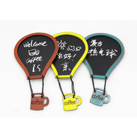 Free shipping 1pc Retro Style Hot air balloon write erase message chalk board Fridge Magnet home kitchen office decoration gifts