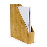 Criativo Livro da Prateleira de Madeira Rack de Arquivo De Escritório de Bambu Eco Natural Multi-Uso Decoração de Mesa Caixa De Armazenamento Desk Organizer para A4/A5 Papel