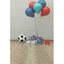 Laeacco Balloons Baby Gift Box Wall Interior Floor Photography Backgrounds Photographic Backdrops For Photo Studio