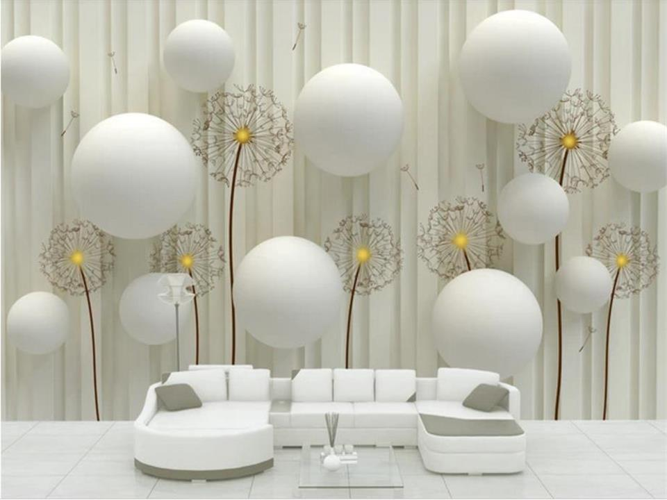 Custom 3D Photo Wallpaper Modern Fashion Simple And Soft Dandelion Living Room Sofa TV Background Mural Wall Paper For Walls 3D 3d stereo relief peacock flowers mural photo wallpaper living room tv sofa study backdrop art wall paper for walls 3d home decor