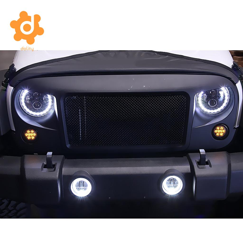 2 Pieces 4'' 30W LED Fog Light with Halo Angel Ring For JEEP JK TJ Wrangler funlight 30w 4 inch auto round led fog light with angle eye for jeep wrangler jk 2007 15