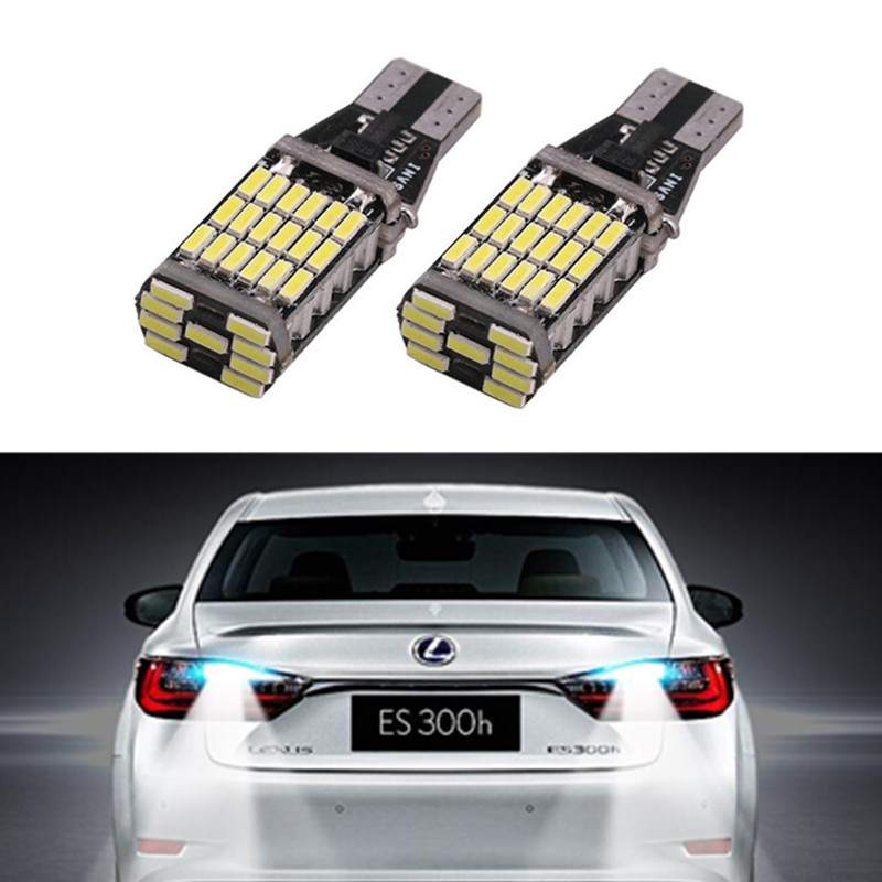2x Error Free LED T15 Car LED Backup Reverse Lights For <font><b>Lexus</b></font> CT ES GS GX IS IS-F LS LX SC RX is250 <font><b>rx300</b></font> is350 is300 image