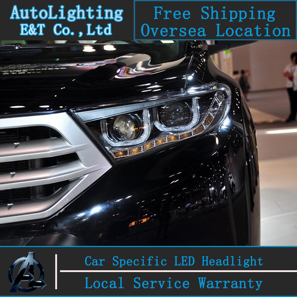 Car Styling LED Head Lamp for Toyota Highlander led headlights 2012-2014 signal led drl H7 hid Bi-Xenon Lens low beam auto clud style led head lamp for benz w163 ml320 ml280 ml350 ml430 led headlights signal led drl hid bi xenon lens low beam