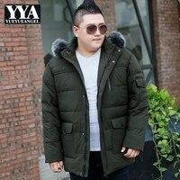 Large Size 7XL 8XL 9XL 10XL Winter Down Jacket Men Fur Collar Hooded Duck Down Coats Men Clothes 2019 Hat Parka Doudoune Homme