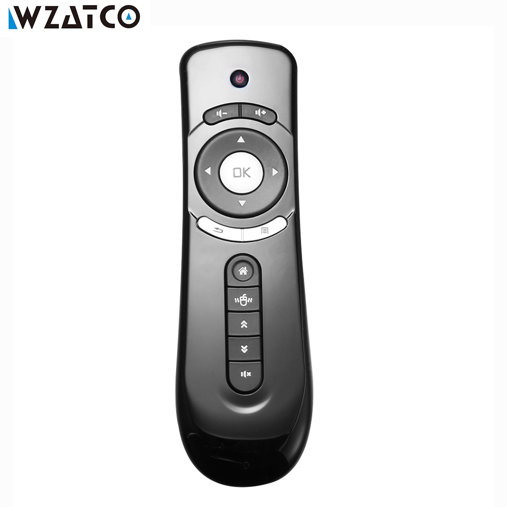 цена на WZATCO Mini Fly T2 Air Mouse 2.4G Wireless Gyroscope Mouse For Android TV BOX , Android Projector 3D Sense Motion Media Player