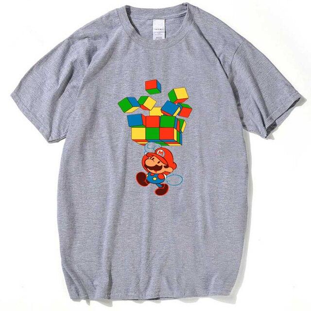 Spiel Minecraft Block T Shirt Männer Super Mario Gedruckt T Shirt - Minecraft block spiele