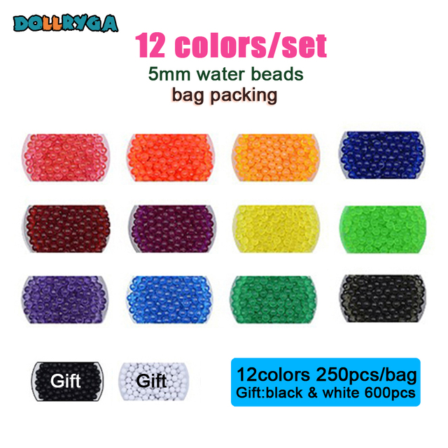 DOLLRYGA 12/24/36colors Beads Puzzle jouet enfant Crystal Color aqua DIY  Perlen Water Spray Set Handmade Magic Toy for Children