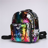 2019 Women Fashion Sequins Backpacks European and American colorful Casual School Shoulder Bags Girl Travel Bags A230
