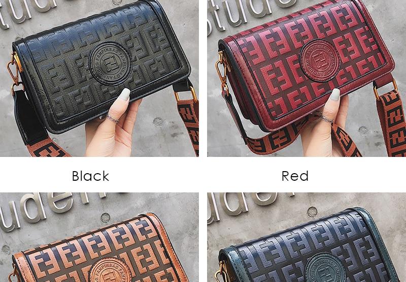 2019 Sac Femme Luxury Handbags Women Bags Designer Leather Crossbody Bag For Women Shoulder Bag Ladies Messenger Bags Letter (4)
