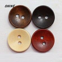 Блеск 50 шт. деревянные швейные пуговицы Скрапбукинг круглая чаша два отверстия 15 мм диаметр. Ботинки Costura, декорированные боттонами