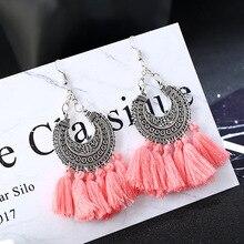 2019 Retro Long Big Dangling Tassel Drop Earring For Women Boho Jewelry Bridal Fringed European Accessories