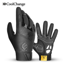 CoolChange Bicycle Long Finger Gloves Winter Breathable Windproof Anti-slip Cycling Thermal GEL Touch Screen Bike