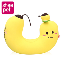 Sheepet Cute Banana U Pillow Soft Stuffed Plush Doll Toys Cute Plush U Shape Neck Pillow