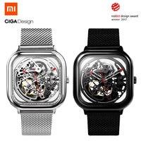 Xiaomi CIGA дизайн выдолбленные Механические часы Смарт Полный Автоматический ход для мужчин t часы для мужчин для женщин модный браслет