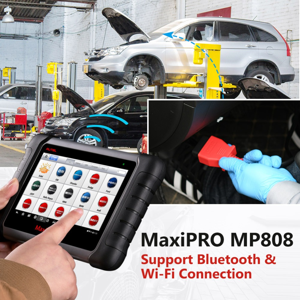 Image 3 - Autel MaxiPRO MP808 DS808 OBD2 Automotive Scanner OBDII Diagnostics Tool Code Reader Scan Tool Key Coding as Autel MaxiSys MS906-in Multimeters & Analyzers from Automobiles & Motorcycles