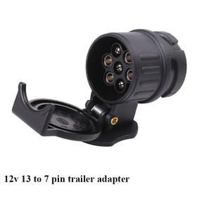 Image 5 - AOHEWEI 12V 13 Pin plug to 7 Pin socket  trailer adapter plug  trailer truck connector  plug socket 13 to 7 pin towing adapter