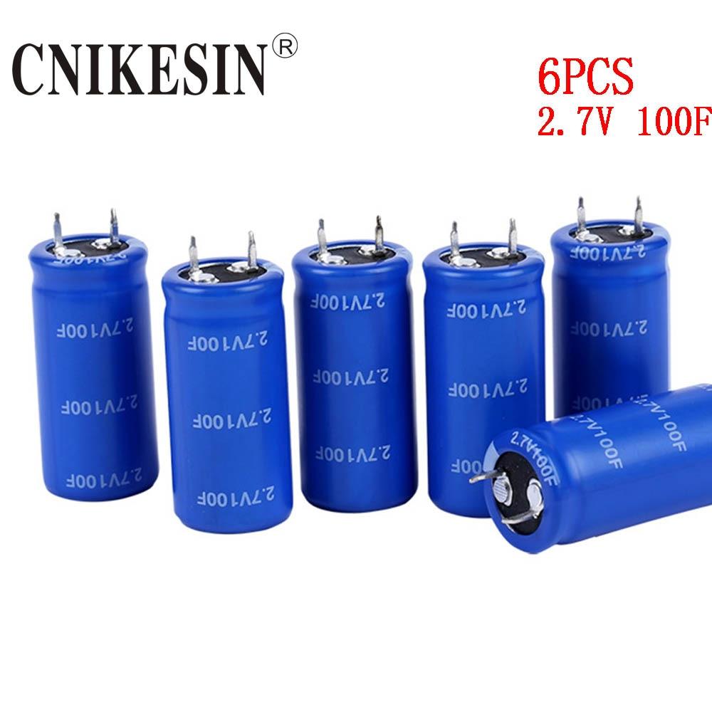 Cnikesin 6pcs 2.7v100fsuper Capacitor 2.7v 100f Fala 2.7v100f