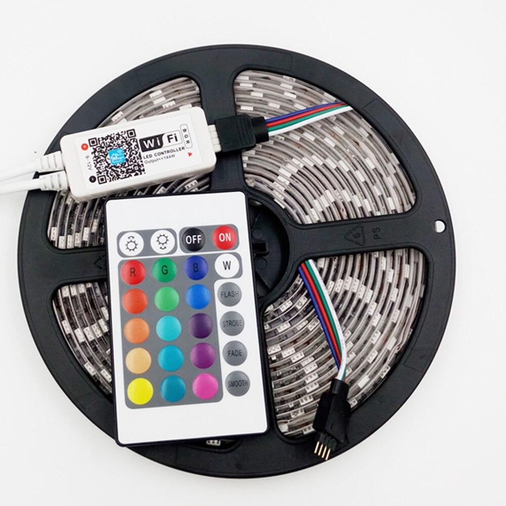 Tiras de Led do telefone controlador remoto 24key Modelo Número : Ilv-50rgb-wifis