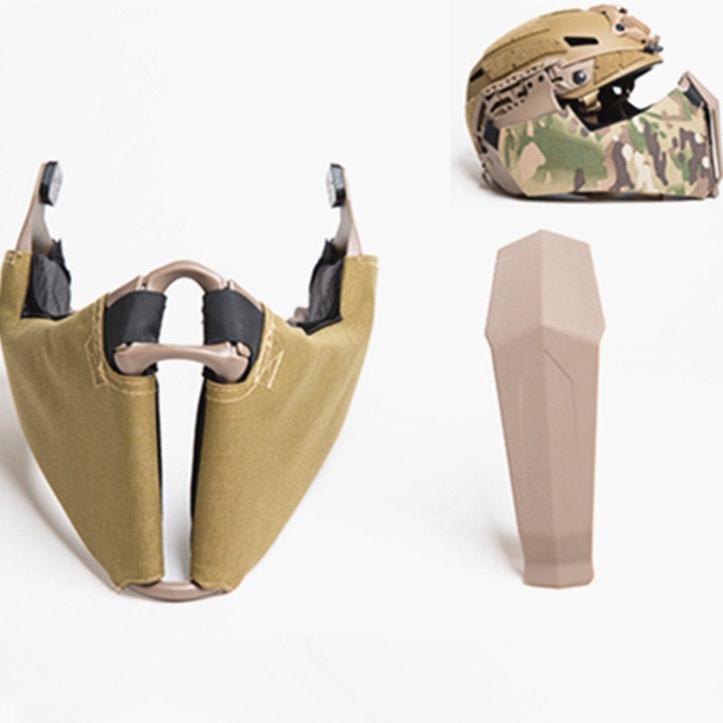 戦術的なマスク下顎ガイドレール接続ハーフフェイスマスクため OC ハイカットヘルメット  グループ上の ホーム&ガーデン からの パーティーマスク の中 1