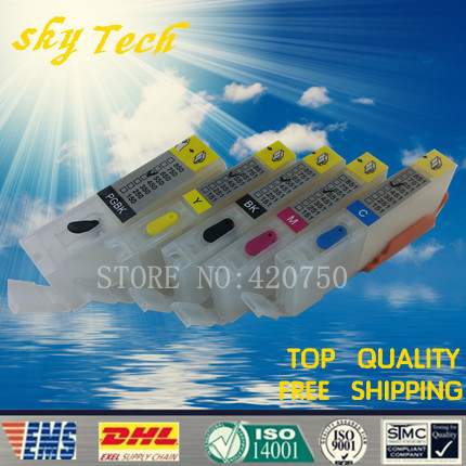 5PK Empty Refillable Cartridge suit for PGI550 CLI551,Suit for canon MG5450 MG5550 MG6350 MG6450 MG7150 Ip7250 ,with ARC chip